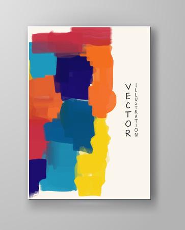 plantillas de diseño de negocios. Folleto con Fondos de pintura de color. Ilustración moderna abstracta del vector.