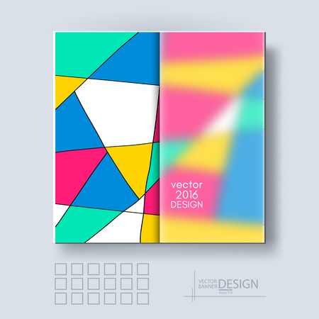 frosted: Multicolor Design Templates with Frosted Glass Insert. Geometric Triangular Abstract Modern Vector Background.
