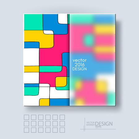 frosted: Multicolor Design Templates with Frosted Glass Insert. Geometric Abstract Modern Vector Background.
