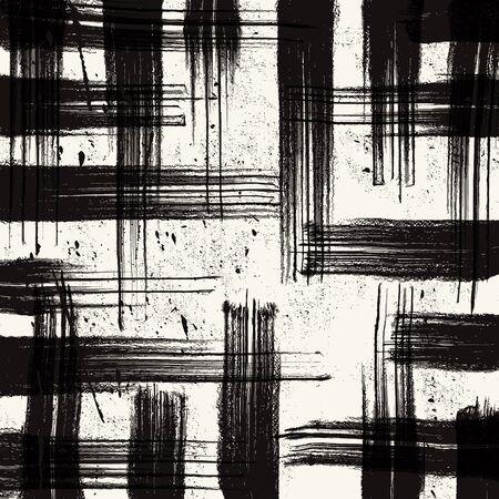 cuadros blanco y negro: Fondo de la red del grunge. Decoración abstracta del grunge. grunge tinta de la técnica. pincelada elemento grunge. ilustración vectorial grunge. Vectores
