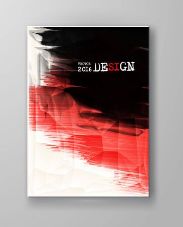 Business design templates. Brochure with Red and Black Paint Backgrounds. Abstract Modern Vector Illustration.