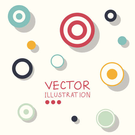 business abstract: Circle modern business design template. Flat minimalism decoration. Abstract white circle background. Vector illustration.