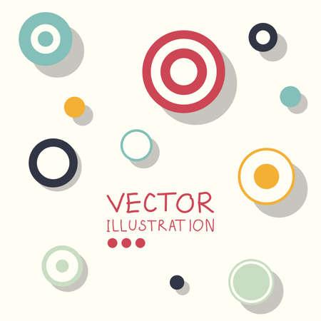 abstract art background: Circle modern business design template. Flat minimalism decoration. Abstract white circle background. Vector illustration.