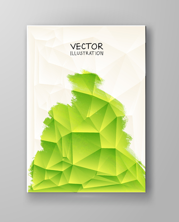 organic fluid: Business design templates. Brochure with Green Paint Backgrounds. Abstract Modern Decoration. Painting. Wallpaper with empty space for your text. Brochure. Vector illustration. Illustration