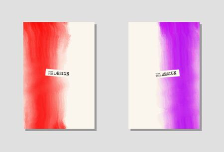 poster backgrounds: Vector color paint poster templates. Hand drawn Watercolor stain backgrounds set. Ink Abstract background for card, brochure, banner, web design.