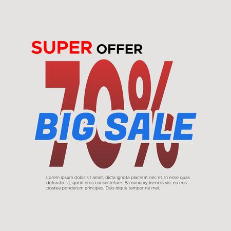 auspicious sign: Big sale . Sale and discounts. illustration