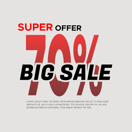 Big sale . Sale and discounts. illustration