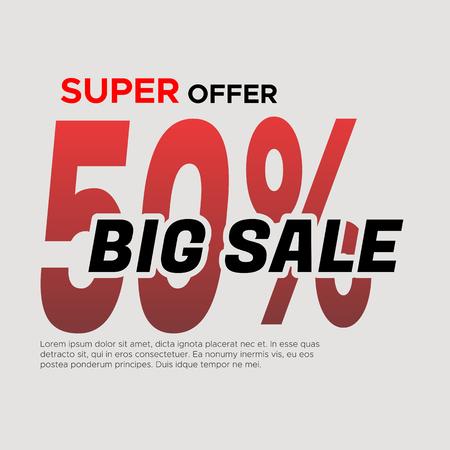 Big sale . Sale and discounts. illustration
