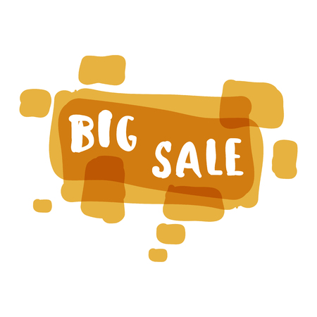 Flat color rectangle design big sale stickers illustrations for online shopping product promotions