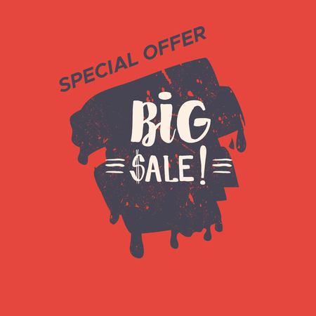 Grunge color design big sale stickers. Catching signage. illustrations for online shopping, product promotions, website and mobile website badges, ads, print material.