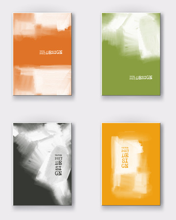 poster backgrounds: color paint poster templates.  grunge stain backgrounds set. Ink Abstract background for card, brochure, web design.