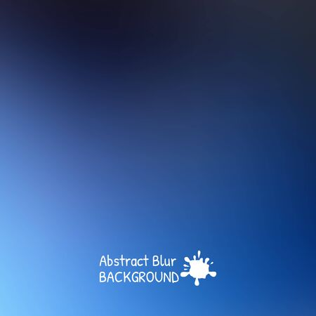 Blue sky with clouds blur design. Vector illustration background.
