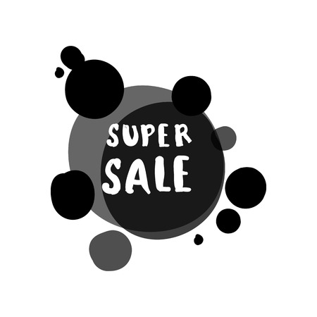retail sales: Flat monochrome circle design big sale stickers. Vector illustrations for online shopping, product promotions, website and mobile website badges, ads, print material.