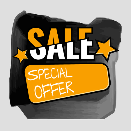 retail sales: Grunge ink design big sale stickers. Catching signage. Vector illustrations for online shopping, product promotions, website and mobile website badges, ads, print material. Illustration