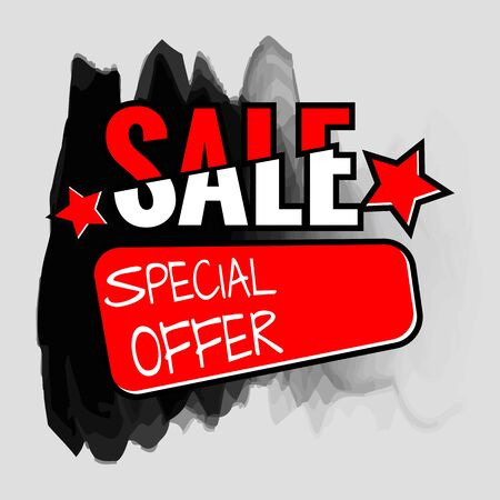 Grunge ink design big sale stickers. Catching signage. Vector illustrations for online shopping, product promotions, website and mobile website badges, ads, print material. Illustration