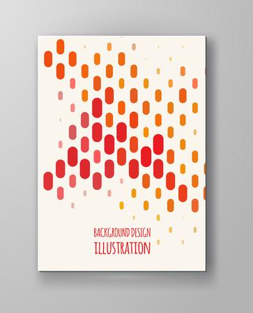 halftones: Halftones Banner. Orange color Brochure. Distress Dirty Damaged Spotted rectangle Overlay Dots Texture . Grunge Effect .