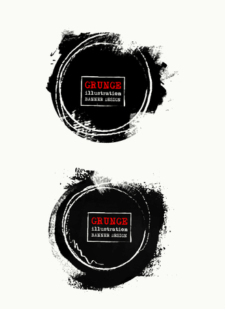 abstract: Set of Vector Grunge shapes. Abstract illustration.