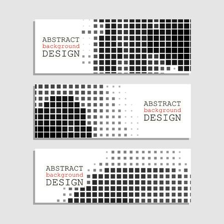 design: Halftones Banner. Monochrome Design element. Distress Dirty Damaged Spotted Square Overlay Dots Texture . Grunge Effect .