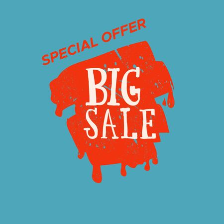 Grunge color design big sale stickers.