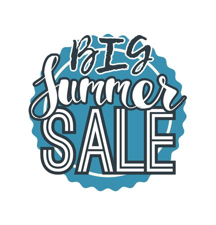 summer sale template banner abstract vector illustration