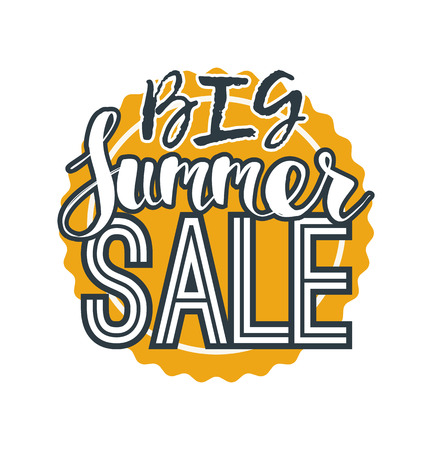 summer sale template banner. abstract vector element