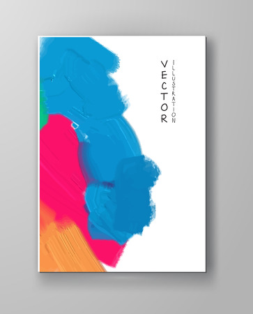 Abstract colorful banner, poster,brochure made of bright stains. Vector illustration.