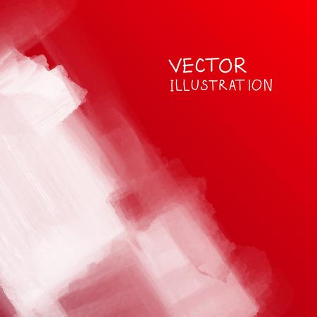 condensation: smoke cloud background on red backdrop. Vector illustration. Illustration