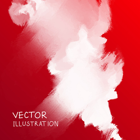 smoke cloud background on red backdrop. Vector illustration. Illustration