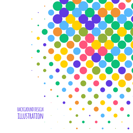 Vector color dot background. Abstract colour illustration