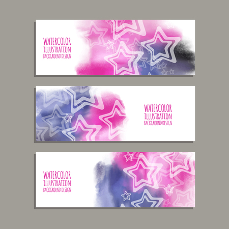 Vector banner vormen collectie geïsoleerd op witte achtergrond. Hand getrokken abstracte verf penseelstreken instellen. Aquarel elementen.