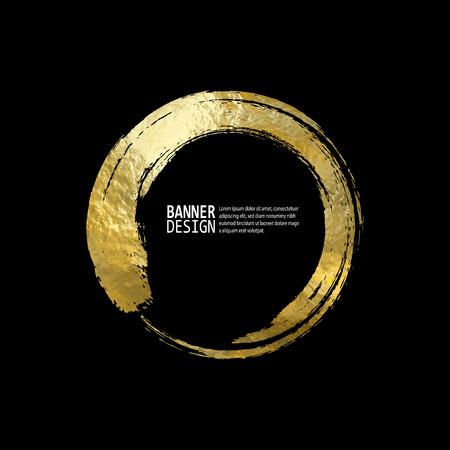 Vetor preto e ouro Design modelos para brochuras, folhetos, tecnologias móveis, aplicações, serviços on-line, emblemas tipográficas, logotipo, Banners e infográfico. Fundo moderno abstrato dourado.