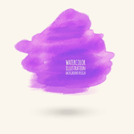 Vector purple color brush strokes. Watercolor Grunge isolated elements. Smoke brushes for your design. Freehand. Ink splash. Acrylic stamp. Vector illustration Illustration