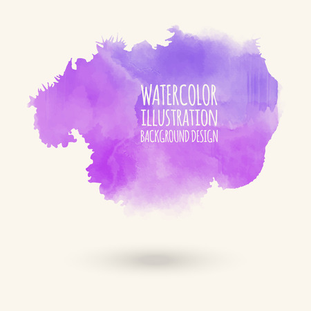 Vector purple brush strokes. Watercolor Grunge isolated elements. Smoke brushes for your design. Freehand. Ink splash. Acrylic stamp. Vector illustration Illustration