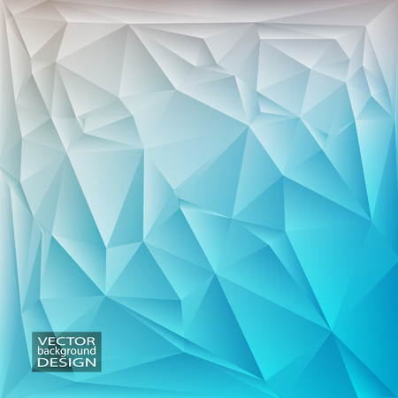 Green blue geometric background with triangles. Blurred gradient mosaic pattern. Vector illustration.