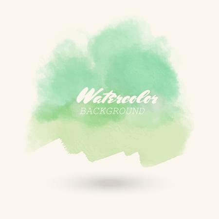 Blue green color watercolor background. Vector illustration Illusztráció