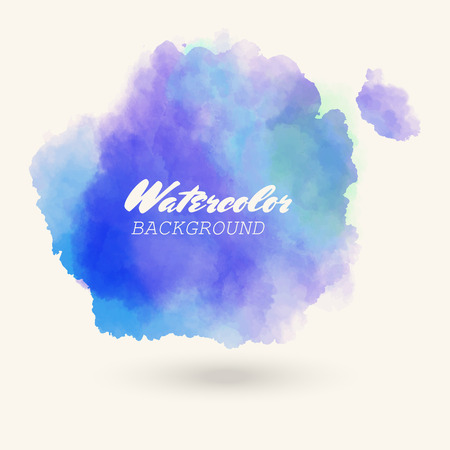 Blue sea color watercolor background. vector illustration Illusztráció