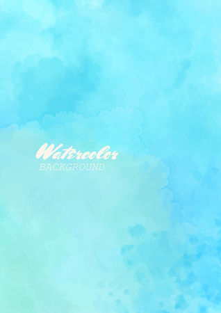 Hand painted watercolor sky and clouds. Abstract watercolor background Vector illustration