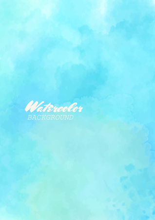 Hand painted watercolor sky and clouds. Abstract watercolor background. Vector illustration. Illustration