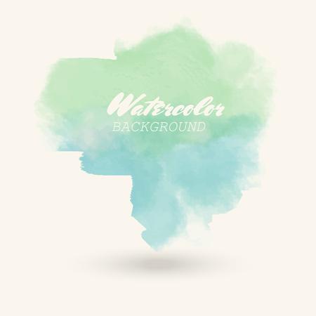 blue green watercolor background. Abstract color vector illustration. Illusztráció