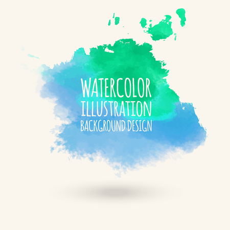Abstract isolated green watercolor hand drawn paper texture stain on white background for text design, web, label.
