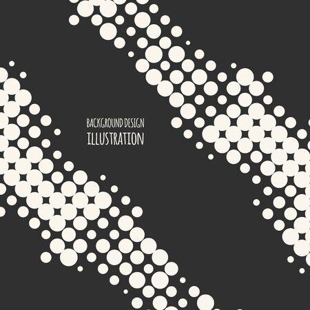 Abstract grunge halftone dot texture. Monochrome background. Vector illustration. Illustration