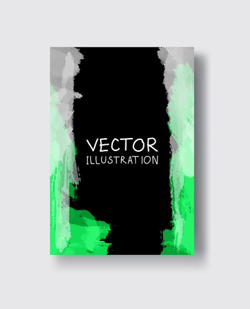 Abstract colorful banner , poster,brochure made of bright stains. Vector illustration.