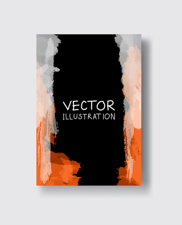 Abstract colorful banner , poster,brochure made of bright stains.