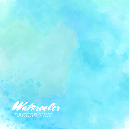 Hand painted watercolor sky and clouds. Abstract watercolor background. Vector illustration