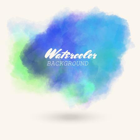 blue green watercolor background. Abstract vector illustration eps10. Art graphic element Illusztráció