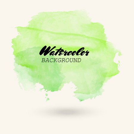 green watercolor background. Abstract vector illustration eps10. Art graphic element Illusztráció