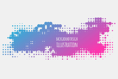 Gradient halftone dots background. Pop art template, texture. Vector illustration