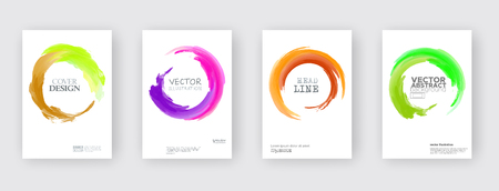 Minimal covers design. Cool paint rounds. Vector illustration Ilustrace