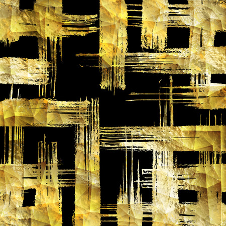 Abstract vector gold glittering textured art illustration. Ilustrace