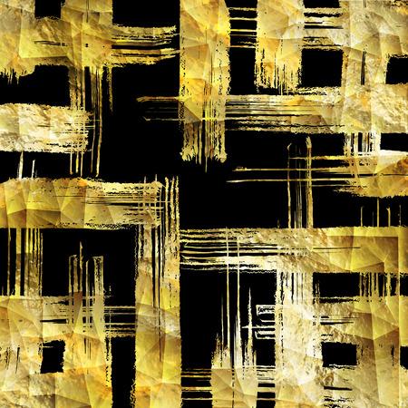 Abstract vector gold glittering textured art illustration. Illustration